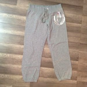 Victoria's Secret PINK Bling Cropped Sweatpants